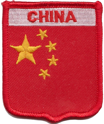China Flag Embroidered Patch Badge