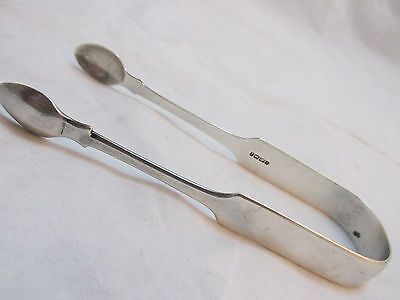 Bristol Exeter 1835 Georgian William Iv Sterling Silver Sugar Tongs