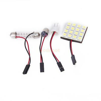 DC 12V 5050 SMD 16-LED T10/Ba9s/ Festoon White Car Interior Dome Bulb Lamp 30mm