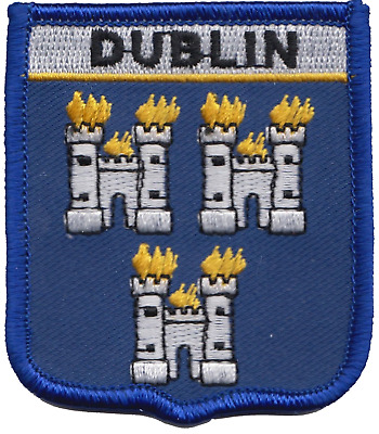 Dublin Ireland Flag Embroidered Patch Badge