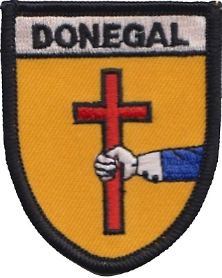 Donegal Ireland Flag Embroidered Patch Badge