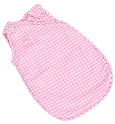 Pink Gingham Sleeping Bag With Fleece For 12-14 Inch My Little Baby Born Doll