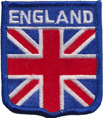 England Union Jack Blue Embroidered Patch