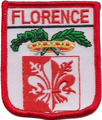 Italy Florence Province Coat Of Arms Shield Embroidered Patch Badge