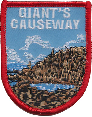 Giant's Causeway County Antrim Northern Ireland Flag Embroidered Patch Badge