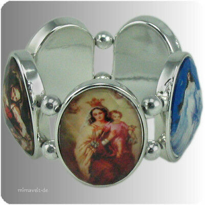 Religiöses Armband silber oval- Hl. Maria Mutter Gottes