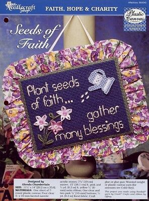 Seeds of Faith Blessings Sign TNS Plastic Canvas Pattern NEW