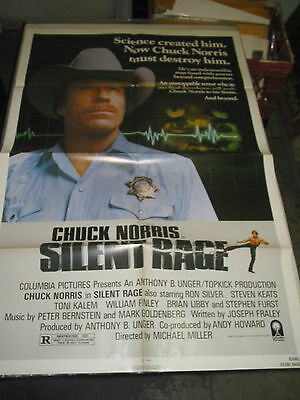 Silent Rage/orig. U.s. One Sheet Movie  Poster (Chuck Norris)