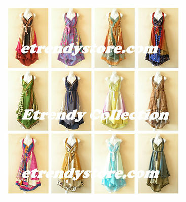 Wholesale Premium Lot - 5pcs Vintage Silk Magic Wrap Skirt Halter Dress + DVD