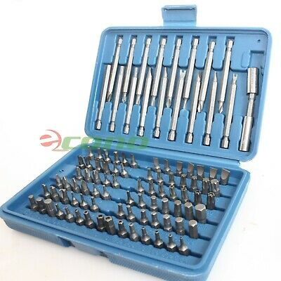 98pc Security Bit Set Tamper Proof Torx Hex Star Spline Bit w/ Long Shank Bits