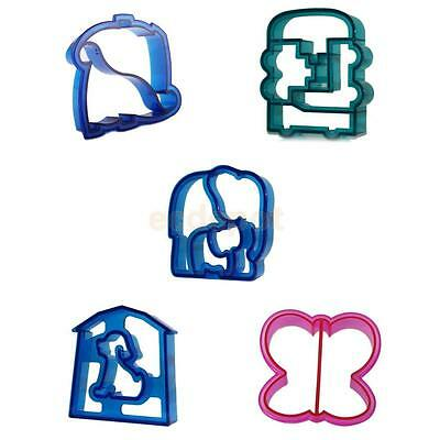 5 Cut Shapes Lunch Sandwich Cake Bread Toast Cookies Biscuit Food Cutter Mould