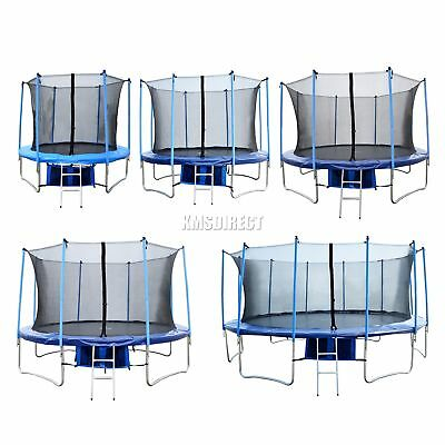 Trampoline With Safety Enclosure Net Ladder Rain Cover 8FT 10FT 12FT 14FT 16FT