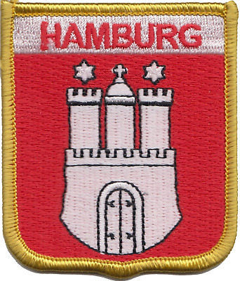 Germany Hamburg Crest Shield Embroidered Patch Badge