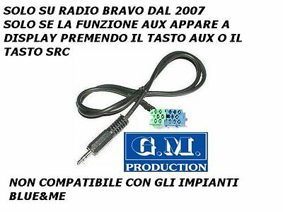 Cavo cavetto ingresso MP3 AUX IN iPod iPhone Samsung FIAT BRAVO VISTEON dal 2007