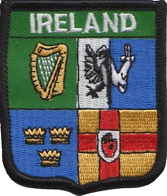 Ireland Leinster, Ulster, Munster and Connacht Flag Embroidered Patch Badge
