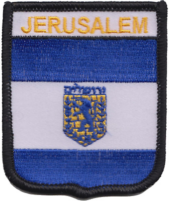 Israel Jerusalem City Flag Shield Embroidered Patch Badge