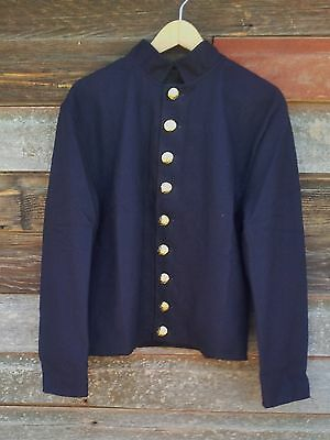 civil war union reenactor officers shell jacket 9 button  46