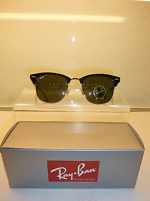 6eacf1e9c18 Sunglasses RAYBAN CLUBMASTER RB3016 W0365 51 Black-Gold Vintage Retro Free  SHIP