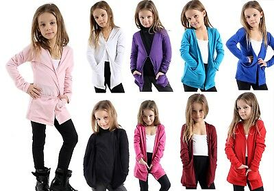 GIRLS KIDS BOYFRIEND* CARDIGANS* SCHOOL FASHION  SHRUG TOPS AGES 3 TO13 T-shirt