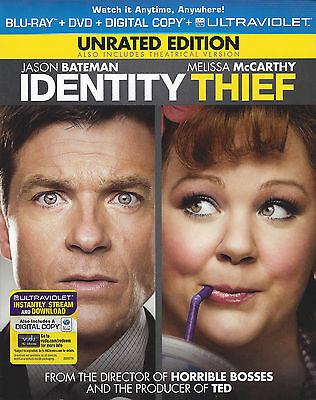 IDENTITY THIEF Unrated/ Theatrical Blu-ray DVD Combo Pack UV ITUNES Digital Copy