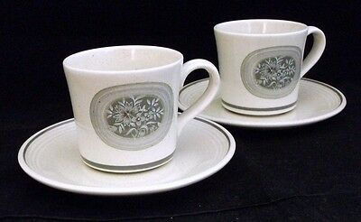 Royal Doulton EARTHFLOWER 2 Cup & Saucer Sets LS1034 GREAT CONDITION