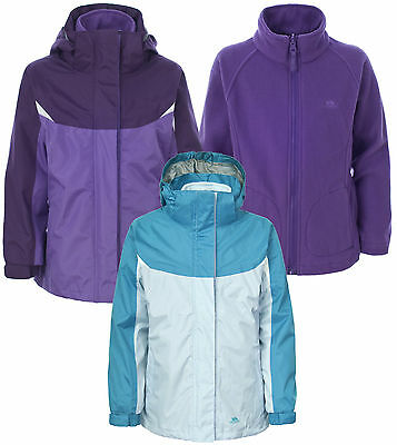 Trespass Camilla Girls 3-in-1 Childrens Waterproof Jacket 2 - 12 yrs 3in1 Coat