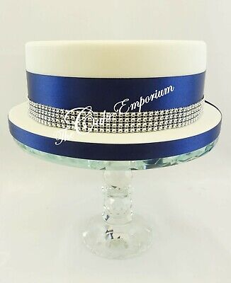 SPARKLING DIAMANTE EFFECT CAKE TRIM WITH RIBBON 1 2 5 MTR LENGTHS + 1.5MTR 15mm