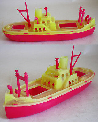 VERY RARE VINTAGE 70'S PLASTIC FISHING SHIP #3 MADE IN GREECE GREEK 30cm NEW !