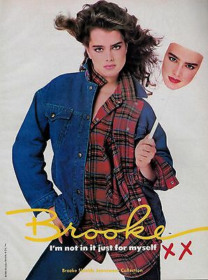 1985 BROOKE SHIELDS Jeanswear Collection Magazine  Print  Ad  3-pg