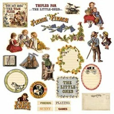 """Prima 551230 """"Londonerry Chipboard Stickers""""  24  Pieces  NEW"""