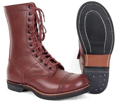 US Army PARATROOPER LEATHER BOOTS - All Sizes WW2 Repro American Jump Shoes Para