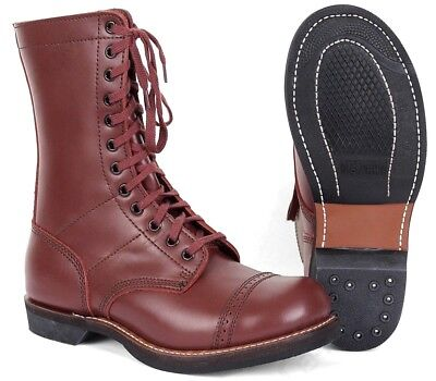WW2 Repro American Para Boots - US Army Paratrooper Leather Jump Boots WWII