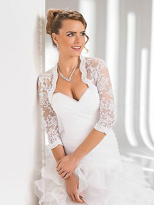 New Wedding Top Lace Bridal Bolero Shrug Jacket  S M L XL XXL