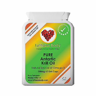 KRILL OIL PURE SUPERBA ANTARCTIC  EXTRA STRENGTH 60 X 500mg CAPSULES