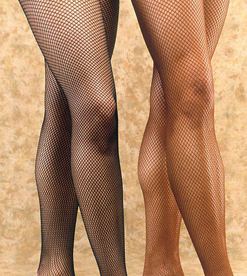 Professional Fishnet Tights, Dance and Stagewear, Suntan or Black, 3 Sizes New