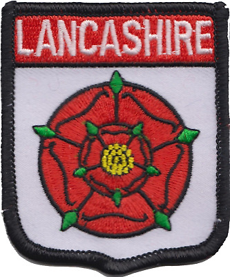 Lancashire Civil County Flag Embroidered Patch Badge