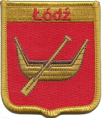 Poland Łódź City Coat of Arms Shield Embroidered Patch