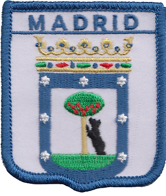 Spain Madrid City Coat of Arms Shield Embroidered Patch Badge