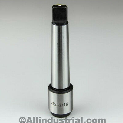 """3/16"""" Mt2 Morse Taper End Mill Tang Tool Holder Adapter End 2Mt"""