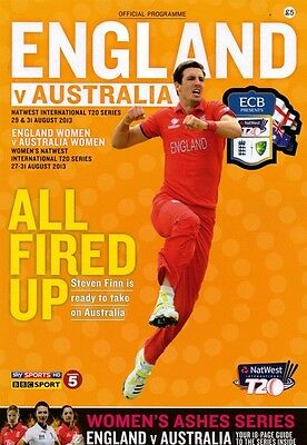 * ENGLAND v AUSTRALIA T20 SERIES CRICKET PROGRAMME (AUGUST 2013) *