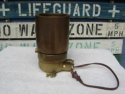 (#a) Brass Bronze Gluhlampe M Kennz Red Light Ship Navy Boat Entry Exit  Lamp