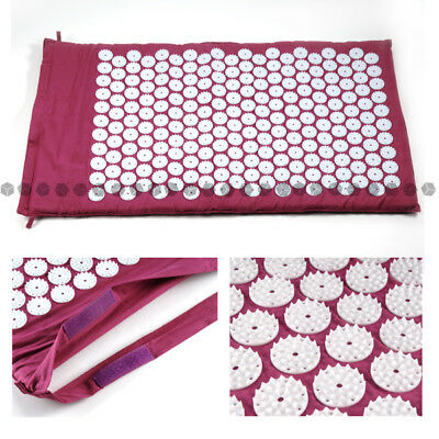 Purple Acupressure Mat Shakti Yoga Reduce Pain Tension Blood Relief Feet Rest AU
