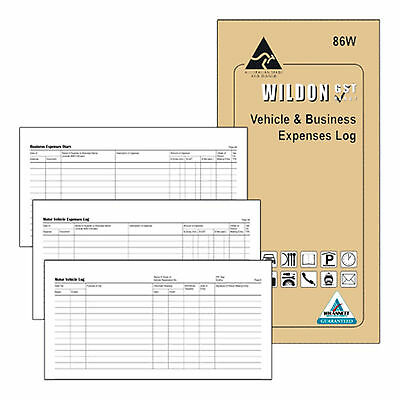 Vehicle Log Book Vehicle & Business  Expenses Log  by Wildon, 86W