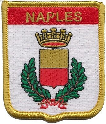 Italy Naples City Coat Of Arms Shield Embroidered Patch Badge