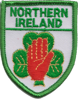 Northern Ireland Shield Flag Embroidered Patch Badge