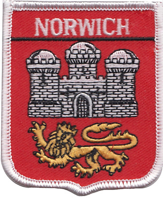 Norwich City Norfolk County Flag Embroidered Patch