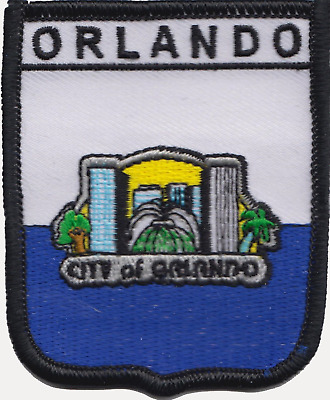 Orlando Florida USA United States of America Flag Embroidered Patch Badge