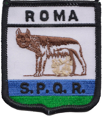 Italy Rome Roma City Shield Embroidered Patch Badge