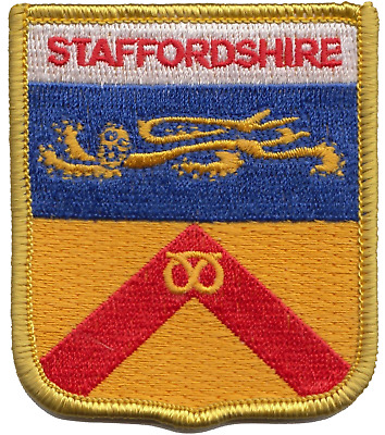Staffordshire County Flag Embroidered Patch Badge
