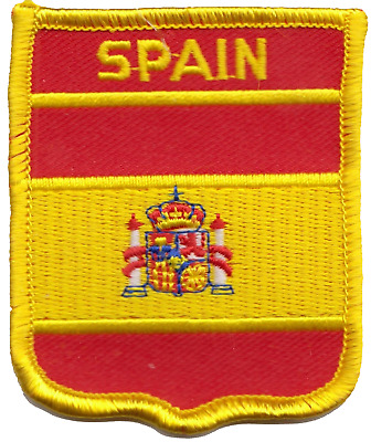 Spain State Flag Shield Embroidered Patch Badge